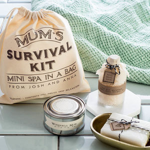 Personalised 'Mum's Mini Spa In A Bag' Survival Kit - gifts for mothers
