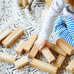 Core Value Oak Building Blocks - christening gifts