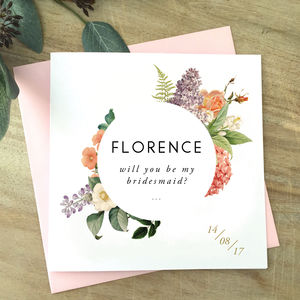 Botanical Will You Be Bridesmaid | Maid Of Honour Card