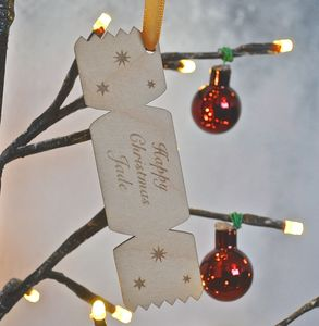 Personalised Chrismas Cracker Decoration - tree decorations