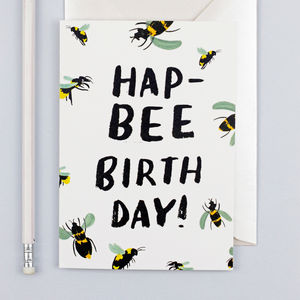 'Hapbee Birthday' Birthday Card