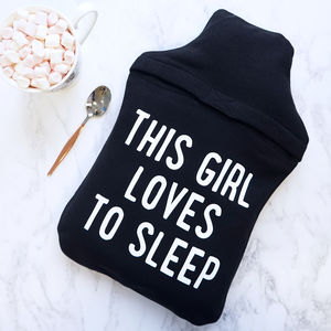 Loves Sleep Hot Water Bottle Cover - bedding & accessories