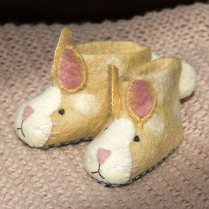 Children's Ruby Rabbit Felt Slippers - children's slippers