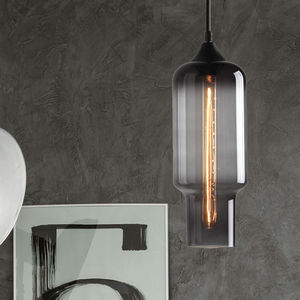 Cylinder Smoked Pendant Lighting - ceiling lights