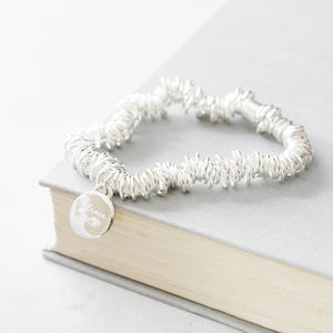 Personalised Engraved Silver Stretch Bracelet - bracelets & bangles
