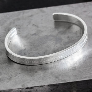 Personalised Sterling Silver Engraved Cuff Bangle