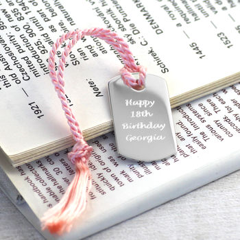 Personalised Solid Silver Bookmark