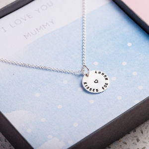 Kisses For Mummy Necklace Gift Box - necklaces & pendants