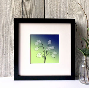 Honesty Silhouette Framed Print - canvas prints & art