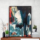 Abstract 59 Blue Abstract Poster Print A5 To A3 Size