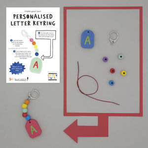 Make Your Own Personalised Letter Keyring Kit - stocking fillers for babies & children