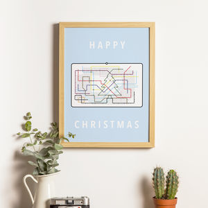 London Underground Christmas Tree Print