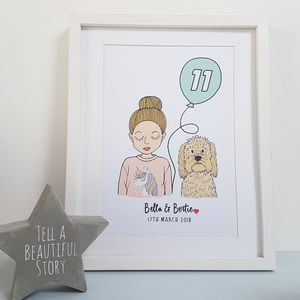 Personalised Childrens Birthday Print - gifts for her