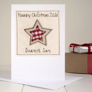 Personalised Star Christmas Card - birthday cards