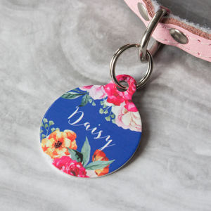 Rose Bouquet Pet ID Tag - dogs