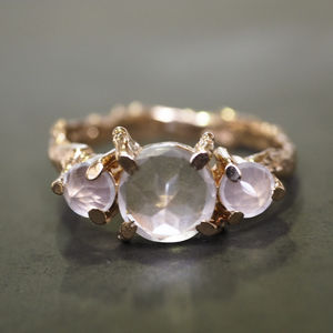 Tiny Twinkle In The Wild Rose Quartz Ring In Rose Gold - gifts for her