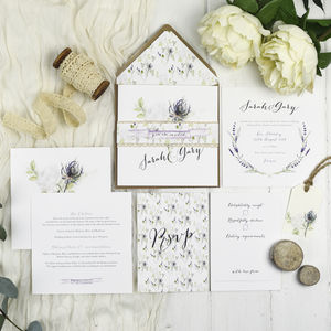 Floral Wedding Invitations - wedding stationery