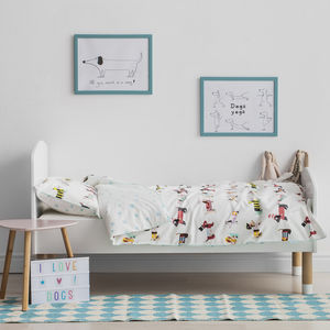 Dog Parade Print Children's Bedding Set