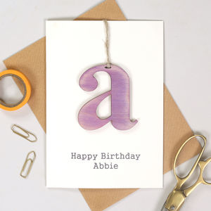 Personalised Keepsake Letter Birthday Card - birthday cards