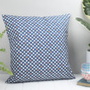 Safiya Feather Cushion, Blue And Orange Geometric