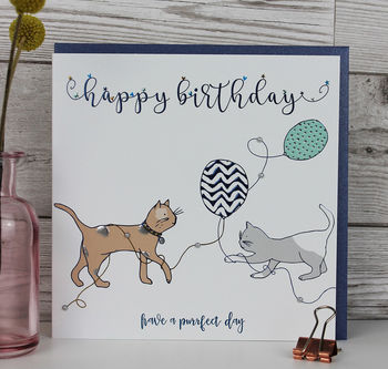 Birthday Card Cat Themed Luxury