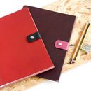 Refillable Leather Notebook Jotter