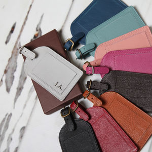 Personalised Leather Luggage Tag - luggage