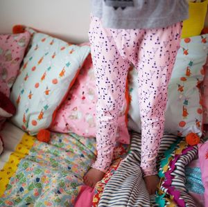 Kids Harem Style Trouser Children's Leggings In Pink