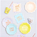Rose Gold Caption Party Tableware Set