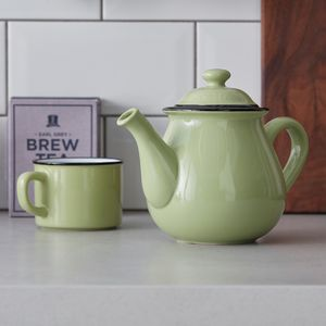 Green Vintage Style Teapot - dining room