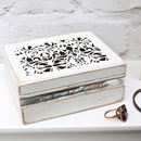 Shabby White Personalised Trinket Box