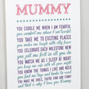 Why I Love You Mummy Poem Print