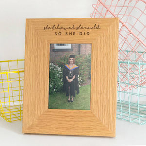 'She Believed She Could, So She Did' Photo Frame - gifts for her sale