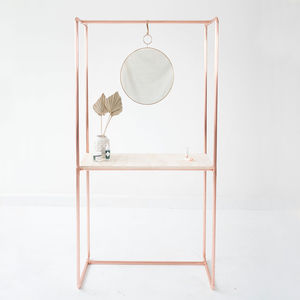 Copper Console Table With Frame