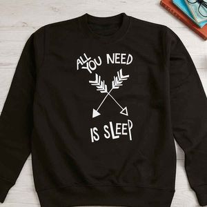 All You Need Is Sleep Womens New Mum Sweatshirt Gift - gifts for teenagers