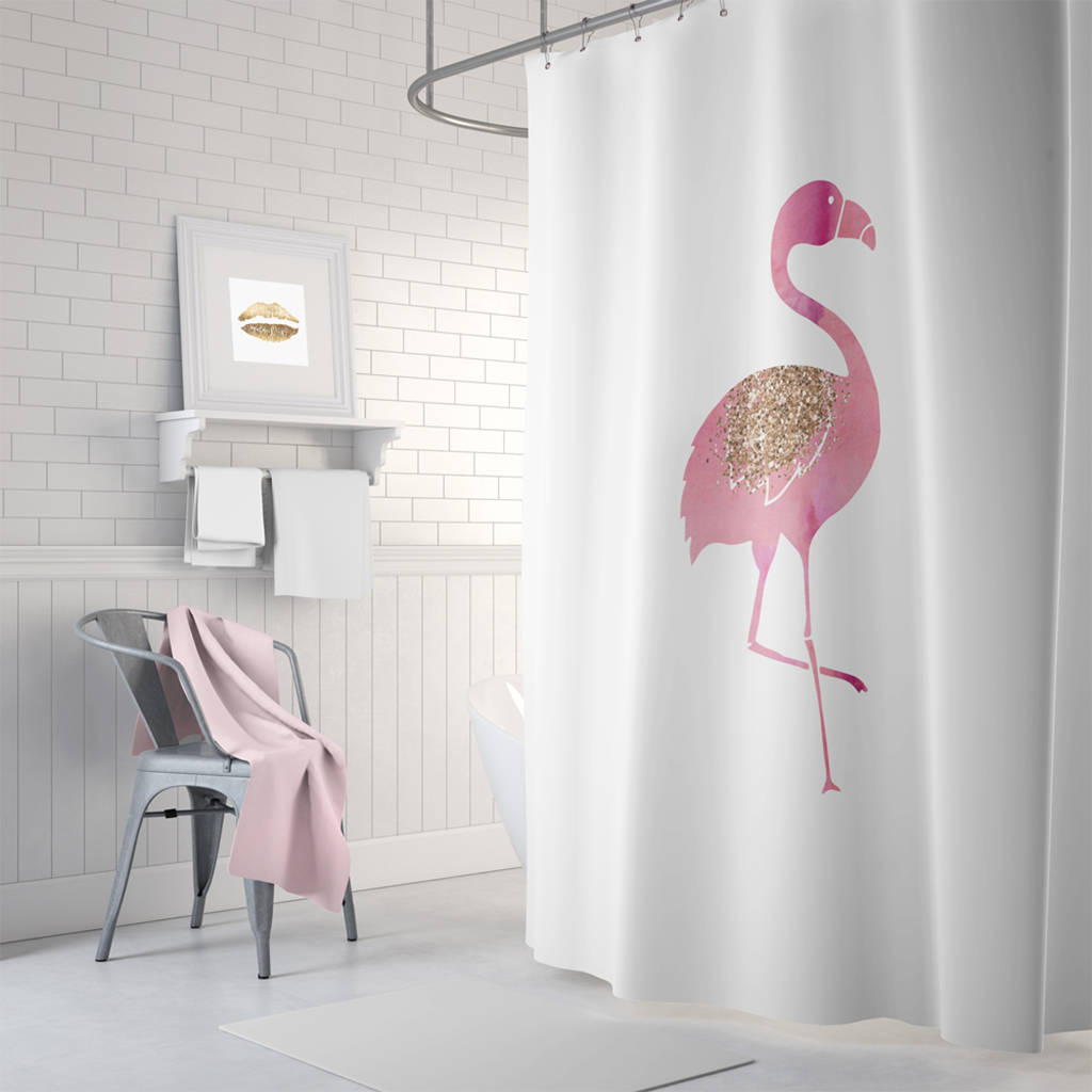 flamingo shower curtainruby and b | notonthehighstreet
