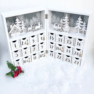 White Wooden Advent Calendar