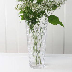 Clear Bubble Glass Vase - what's new