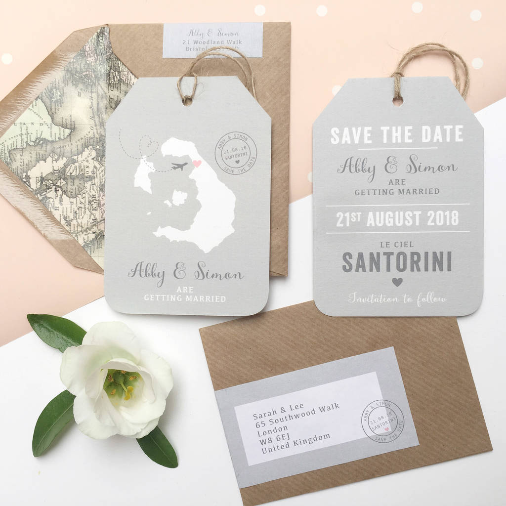 40a8601cdd7d4 location wedding abroad save the date luggage tag by ditsy chic ...