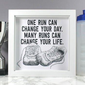 Running Quote Inspirational Art Print For Runners