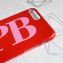 Personalised Cherry Red And Bubblegum Pink Phone Case