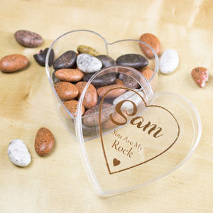 Personalised 'You Are My Rock' Vegan Luxury Almond Gift - valentine's gifts for him