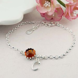 Amber Bracelet Personalised November Birthstone