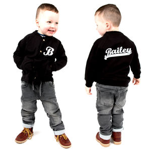 Personalised Toddler Baseball Bomber Jacket - babies' jumpers