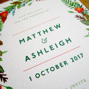 Autumn Wreath Save The Date Card