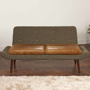 Vintage Leather Or Harris Tweed Sofa One Or Two Seater - furniture
