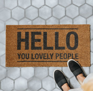 Hello You Doormat - rugs & doormats