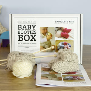 Baby Booties Beginner's Knitting Kit - whatsnew