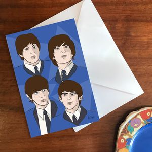 'Fab Four' A6 Greetings Card - shop by category