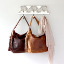 Leather Hobo Tassle Tote